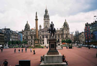 Don't miss George Square in Glasgow City Centre during your short break